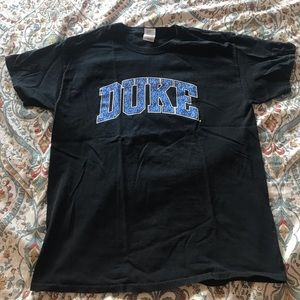 2/$20 DUKE blue bandana print t shirt